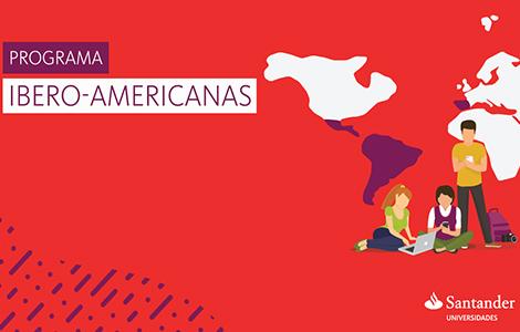 baner vermelho com informativos sobre programa santander universidades