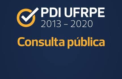Imagem com a frase PDI 2013-2020 - Consulta Pública