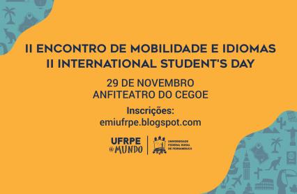 Cartaz do evento com informações de data, local e tema.