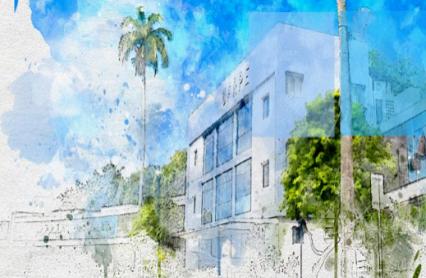 imagem da fachada do campus UFRPE em aquarela